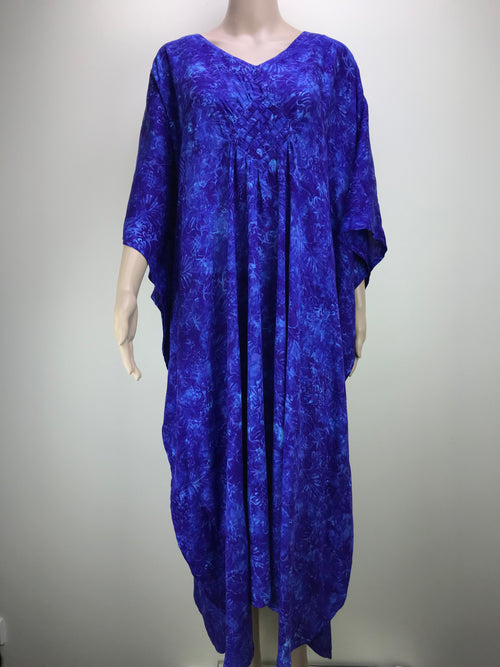 Diamond Kaftan Flower Blue