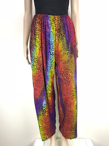 Shirred Pants Animal Rainbow