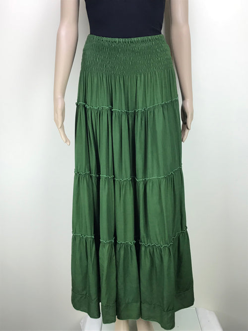 Canda Long Skirt Green