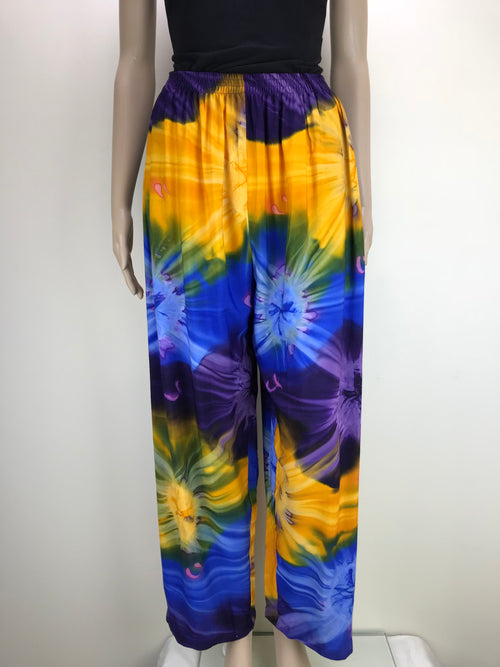 Pants Tie Dye Rainbow Purple