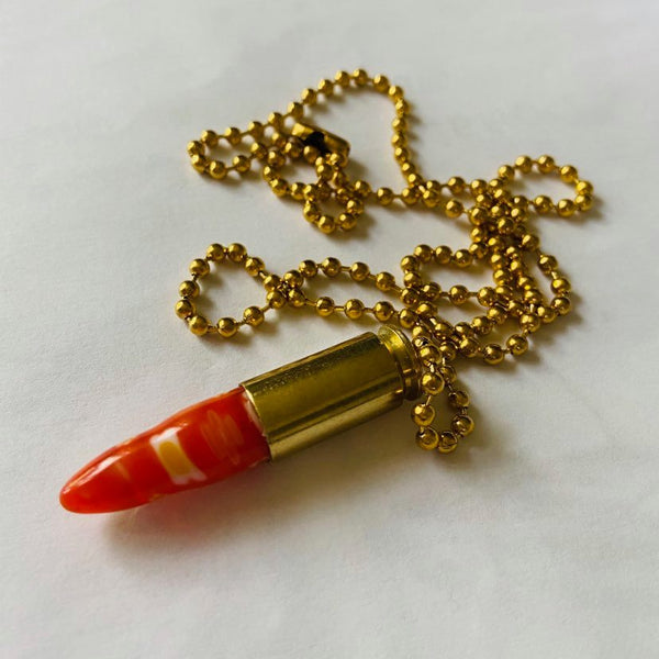 Bulletprove Teardrop Necklace 001