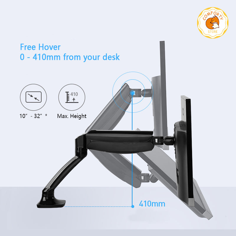 2-9kg Ergonomic Monitor Mounting Arm #Comforty Selection