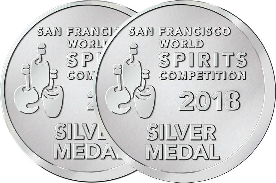 Bomond Vodka Silver Medals San Francisco World Spirits Competition 2017 & 2018