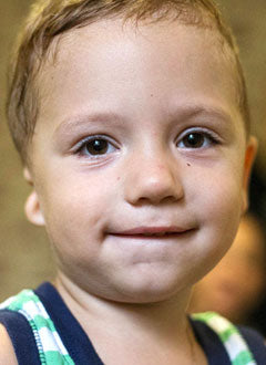Two Year Old Anton has hearing loss on his right side. He needs surgery to help him hear normally.