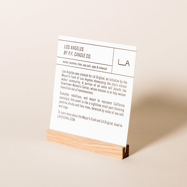 Stockist Display Sign - Los Angeles scent
