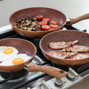 Copper Stone Pans - 4pc Set - TVShop
