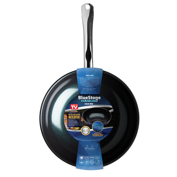 Bluestone with Diamond Fry Pan without Lid