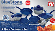 Bluestone Plus 9 Piece Cookware Set - TVShop