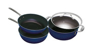 Bluestone with Diamond 4 Piece Cookware Set - TVShop