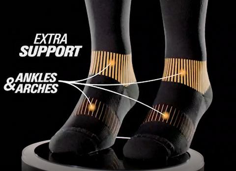 Copper Fit Easy On/Off Compression Socks