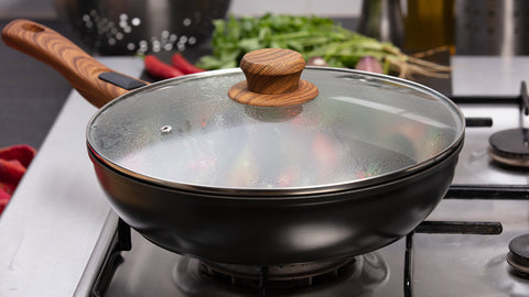 Gourmet Wok with Lid by Taste The Difference