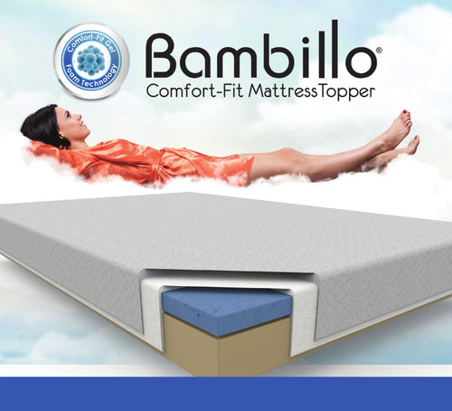 Bambillo Comfort Fit Mattress Topper - TVShop