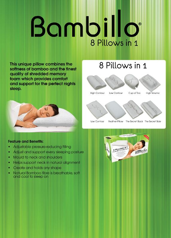 Bambillo 8-in-1 Pillow Queen - TVShop