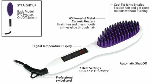 Instyler STRAIGHT UP Pro Straightening Brush - TVShop