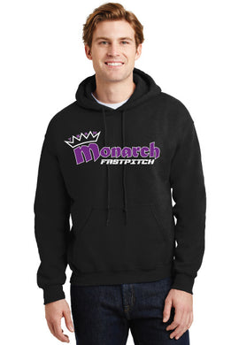 Team Monarch Adult Black Hooded Sweatshirt