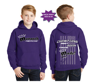 Team Monarch Youth Purple Hooded Sweatshirt