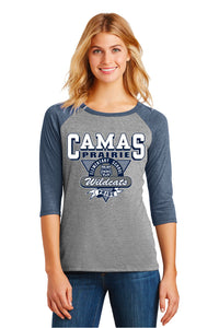Camas Prairie 3/4 Sleeve Ladies Baseball Shirt