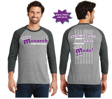 Team Monarch Unisex 3/4 Sleeve Raglan Baseball Shirt