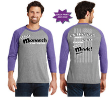 Team Monarch Unisex 3/4 Sleeve Shirt-Team Monarch - Champ-Purple