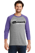 Team Monarch Unisex 3/4 Sleeve Shirt-Team Monarch-Purple
