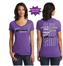Team Monarch Women's V-Neck Shirt