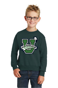 Evergreen No Excuses Youth Crew Sweatshirt