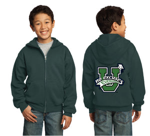 Evergreen No Excuses Youth Full Zip Hooded Sweatshirt