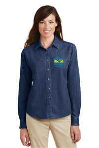 Bethel School District Ladies Denim Long Sleeve Shirt