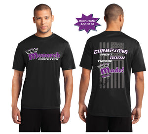 Team Monarch Adult Black Performance Shirt