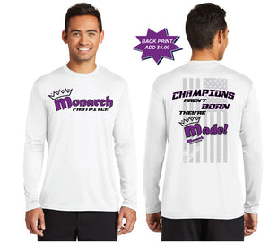 Team Monarch White Long Sleeve Performance Shirt