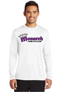 Team Monarch Adult White Long Sleeve Performance Shirt