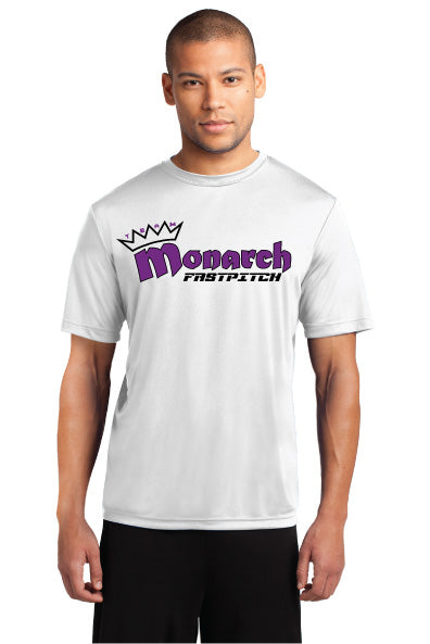 Team Monarch Adult White Performance Shirt