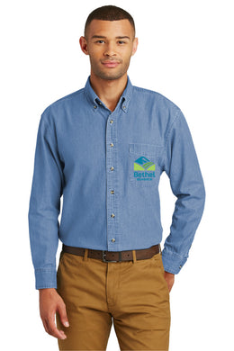 Bethel School District Unisex Denim Long Sleeve Shirt