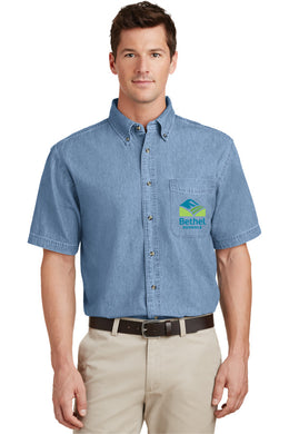 Bethel School District Unisex Denim Short Sleeve Shirt