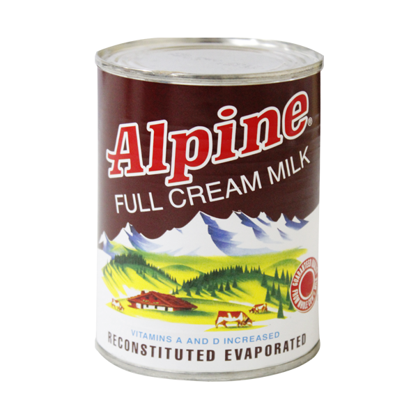 ALPINE FULL CREAM MILK 378ML OR 370ML