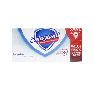 SAFEGUARD SOAP BAR 3PID WHITE 85G PROMO PACK