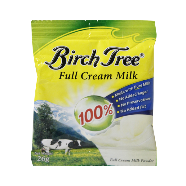 BIRCH TREE FULL CREAM MILK POWDER 26G