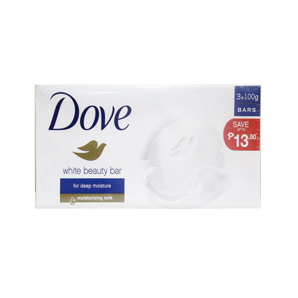 DOVE PW BAR WHITE BEAUTY 100G SAVERS PK