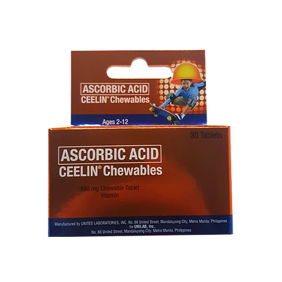 CEELIN CHEWABLES TABLET SS 60s