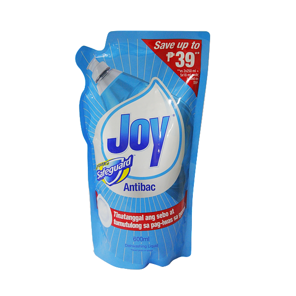 JOY DISHWASHING LIQUID ANTIBAC W/ SAFEGUARD 600ML