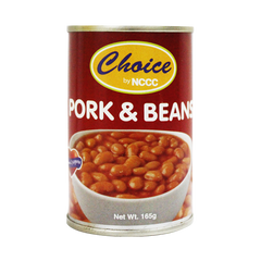 CHOICE PORK & BEANS 165G