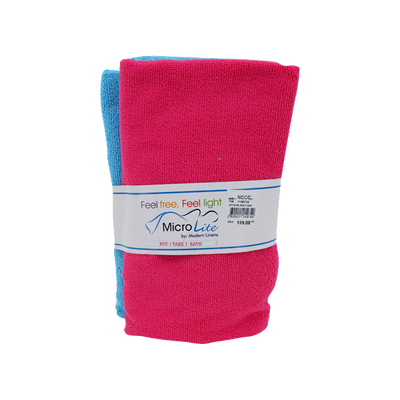 BUY 1 TAKE 1 BATH TOWEL PINK & BLUE