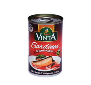 VINTA SARDINES IN TOMATO SAUCE HOT & SPICY EASY OPEN CAN 155G