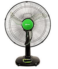 CAMEL DESK FAN BLACK & GREEN CDF-1216C