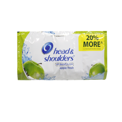 HEAD & SHOULDERS SHAMPOO APPLE FRESH TRI-SACHET 12MLX6S