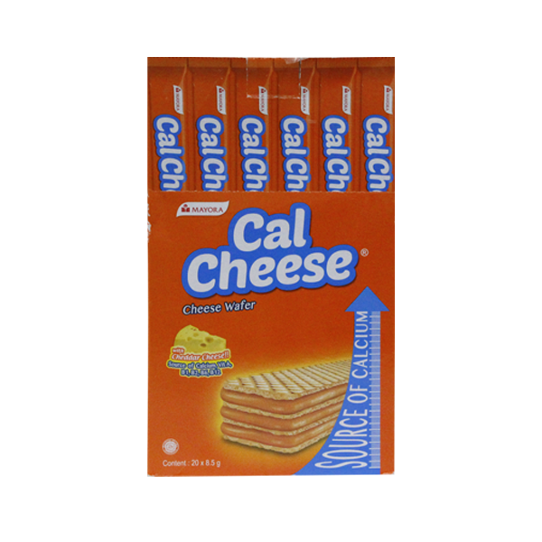MAYORA CAL CHEESE WAFER 8.5G X 20'S