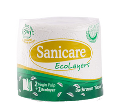 SANICARE BATHROOM TISSUE 3PLY 600SHEETS 200PULLS 1S
