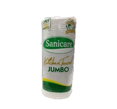 SANICARE KITCHEN TOWEL JUMBO 2PLY 90PULLS/180SHEETS (275X230MM)