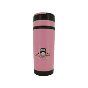 GLASS TRAVEL TUMBLER PINK