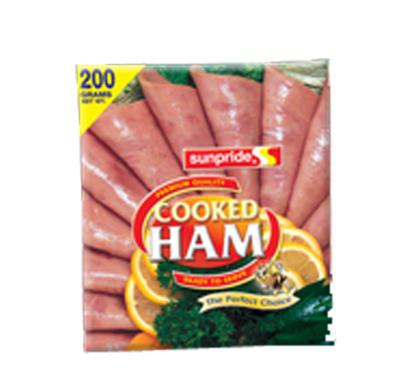 SUNPRIDE COOKED HAM SLICED 200G